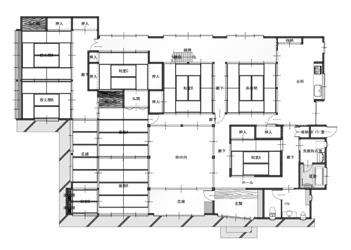 「佐々木邸」平面図