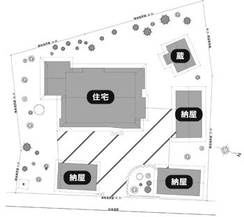 「佐々木邸」配置図